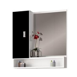Espelheira Orquídea MDF 60Cm Branca/Preta-Cozimax - Cores Vivas Home Center