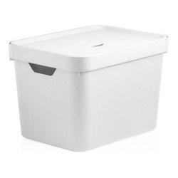 Caixa Organizadora Cube M 18 Litros Branca Com Tam... - Cores Vivas Home Center