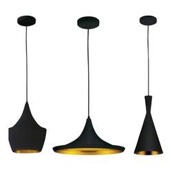 Kit 3 Pendentes Alumínio (Funil, Chapéu e Balão) P... - Cores Vivas Home Center