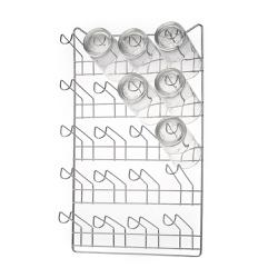 Porta Copos Parede Cromado Para 20 Copos-Arthi - Cores Vivas Home Center
