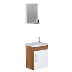 Kit Para Banheiro com Toucador, Pia e Espelheira T... - Cores Vivas Home Center