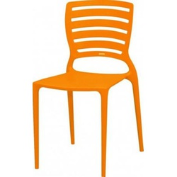 Cadeira Tramontina Sofia Laranja Encosto Vazado - Cores Vivas Home Center