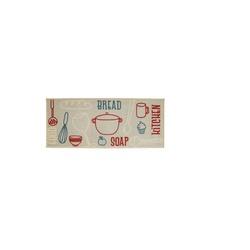Tapete Kapazi Cleankasa 50X1,20Cm Cozinha Bread - Cores Vivas Home Center