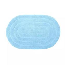 Tapete Kapazi Allegro 40X60Cm Azul Claro Oval - Cores Vivas Home Center