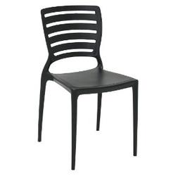 Cadeira Tramontina Sofia Preta Encosto Vazado - Cores Vivas Home Center