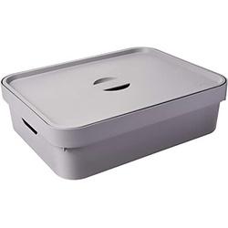 Caixa Organizadora Cube M 10,50 Litros Chumbo Com ... - Cores Vivas Home Center