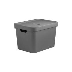 Caixa Organizadora Cube M 18 Litros Com Tampa-Mart... - Cores Vivas Home Center