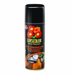 Tinta Spray Alta Temperatura Preto Fosco-Lukscolor - Cores Vivas Home Center
