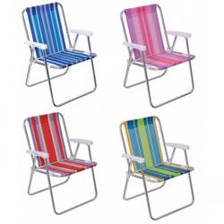 Cadeira Alta Alumínio Cores Sortidas-Mor - Cores Vivas Home Center