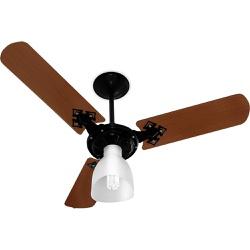 Ventilador De Teto Light 3 Pás 127v Preto/Mogno-Ve... - Cores Vivas Home Center