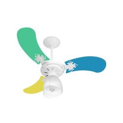 Ventilador De Teto Baby Colors 3 Pás 127v Masculin... - Cores Vivas Home Center