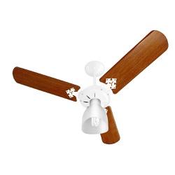 Ventilador De Teto Light 3 Pás Branco/Mogno 127V-V... - Cores Vivas Home Center