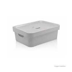 Caixa Organizadora Cube M 10,50 Litros Branca Com ... - Cores Vivas Home Center