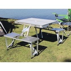 Mesa Dobrável Em Aluminio Camping Tipo Maleta Com ... - DANDARO