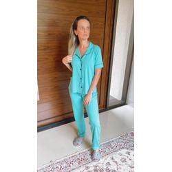 Pijama Americano Verde Esmeralda - DELLYUS