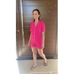 Pijama Americano Curto Pink - DELLYUS