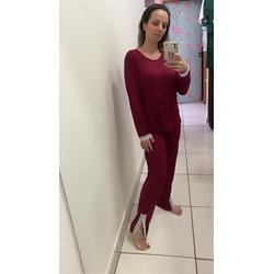 Pijama Longo Marsala - DELLYUS