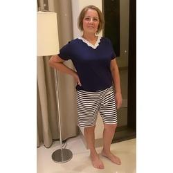 Pijama Curto Manga Marinho Listrado - DELLYUS