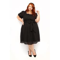 Vestido Laise Preto - Plus Size - DELPHINA