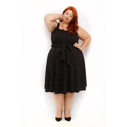 Vestido Malha Preto Brilho - Plus Size - DELPHINA