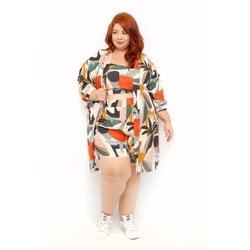 Quimono Estampa Tropical - Plus Size - DELPHINA
