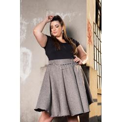 Blusa Podrinha Preta - Plus Size - DELPHINA