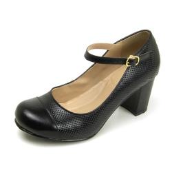 Sapato Feminino Em Couro Legítimo Preto - D&R SHOES