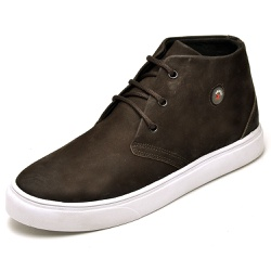 Tenis Casual Masculino Cano Alto D&R Shoes Couro Nobuck - D&R SHOES