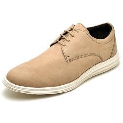 Sapatenis Casual Masculino D&R Shoes Couro Legitimo Marfim - D&R SHOES