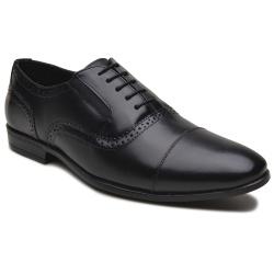 Sapato Social Sândalo Em Couro Legitmo Bentley Preto - D&R SHOES