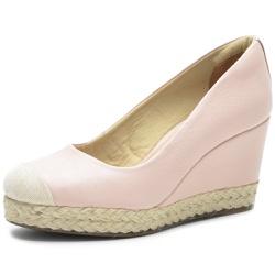 Sapato Feminino DeR Shoes Em Couro Legítimo Day By Day Rose + Bolsa de Brinde. - D&R SHOES