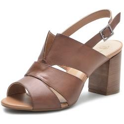 Sandália Feminina DeR Shoes Em Couro Legítimo Daisy Whisky - D&R SHOES