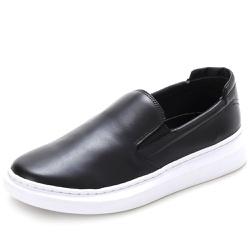 Sapato Slip On Prime Masculino Em Couro Legítimo Preto - D&R SHOES