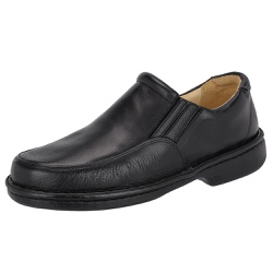 Sapato Masculino Conforto Em Couro Legítimo Preto ... - D&R SHOES