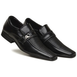 Sapato Social Masculino em Couro Ecologico Confort - D&R SHOES