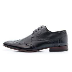 Sapato Social Oxford Masculino Biggioni-Couro-Preto - D&R SHOES