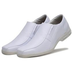 Sapato Social Masculino Bico Quadrado em Couro Sin... - D&R SHOES