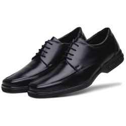 Sapato Social Masculino Bico Quadrado em Couro Sintetico Preto - D&R SHOES