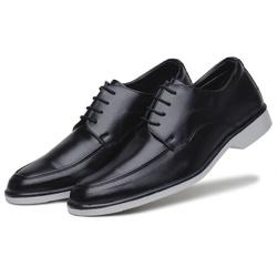 Sapato Social Masculino em Couro Ecologico Confort Preto - D&R SHOES