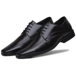 Sapato Social Masculino em Couro Ecologico Confort Cafe - D&R SHOES