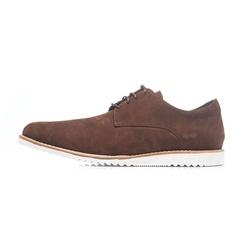 Sapato Casual Masculino D&R Shoes Em Couro Nobuck Café - D&R SHOES
