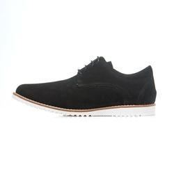 Sapato Casual Masculino D&R Shoes Em Couro Nobuck Preto - D&R SHOES