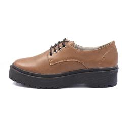 Sapato Oxford Feminino Casual em Couro Legitimo Castor - D&R SHOES