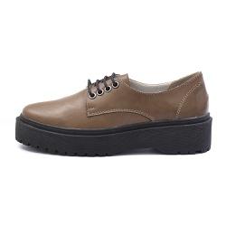 Sapato Oxford Feminino Casual em Couro Legitimo Terra - D&R SHOES