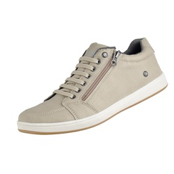 Tenis Masculino Casual com Ziper Lateral Areia - D&R SHOES
