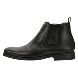 Bota Masculina Causal Comfort Premium Em Couro Legítimo Preto - D&R SHOES