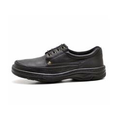 Sapato Masculino Conforto Em Couro Preto - D&R SHOES