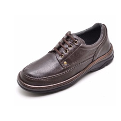 Sapato Masculino Conforto Em Couro Marrom - 2020-1 - D&R SHOES