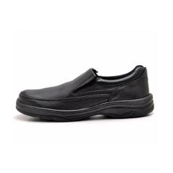 Sapato Masculino Conforto Liso Em Couro Preto - D&R SHOES