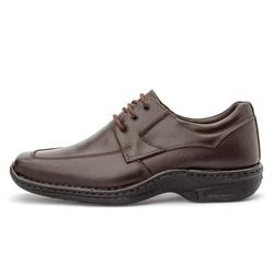 Sapato Masculino Conforto Em Couro Legítimo Café - D&R SHOES